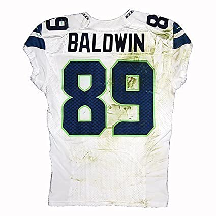 63afecdf318d8 Game-Used Doug Baldwin #89 Road Jersey - Seahawks vs Packers (9.20 ...