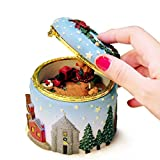Christmas Gift Music Box,Nesee Christmas Elk Christmas Tree Music Box Astonated Box Birthday Gift Send Girl (A)