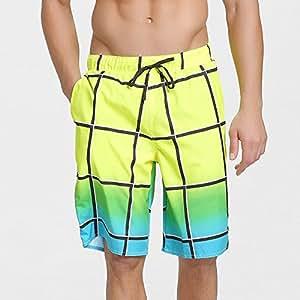 Kaxima Pantalones cortos hombres verano ocio deportes cinco puntos grande ropa interior verano siete sueltas par rápido seco pantalón de playa