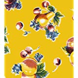 Pears & Apples on Yellow Oil Cloth each yard