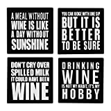 Cheap Wine Science Set of 4 Premium Silicone Coasters – Wine Gifts Accessory for Any Wine Enthusiast (4)