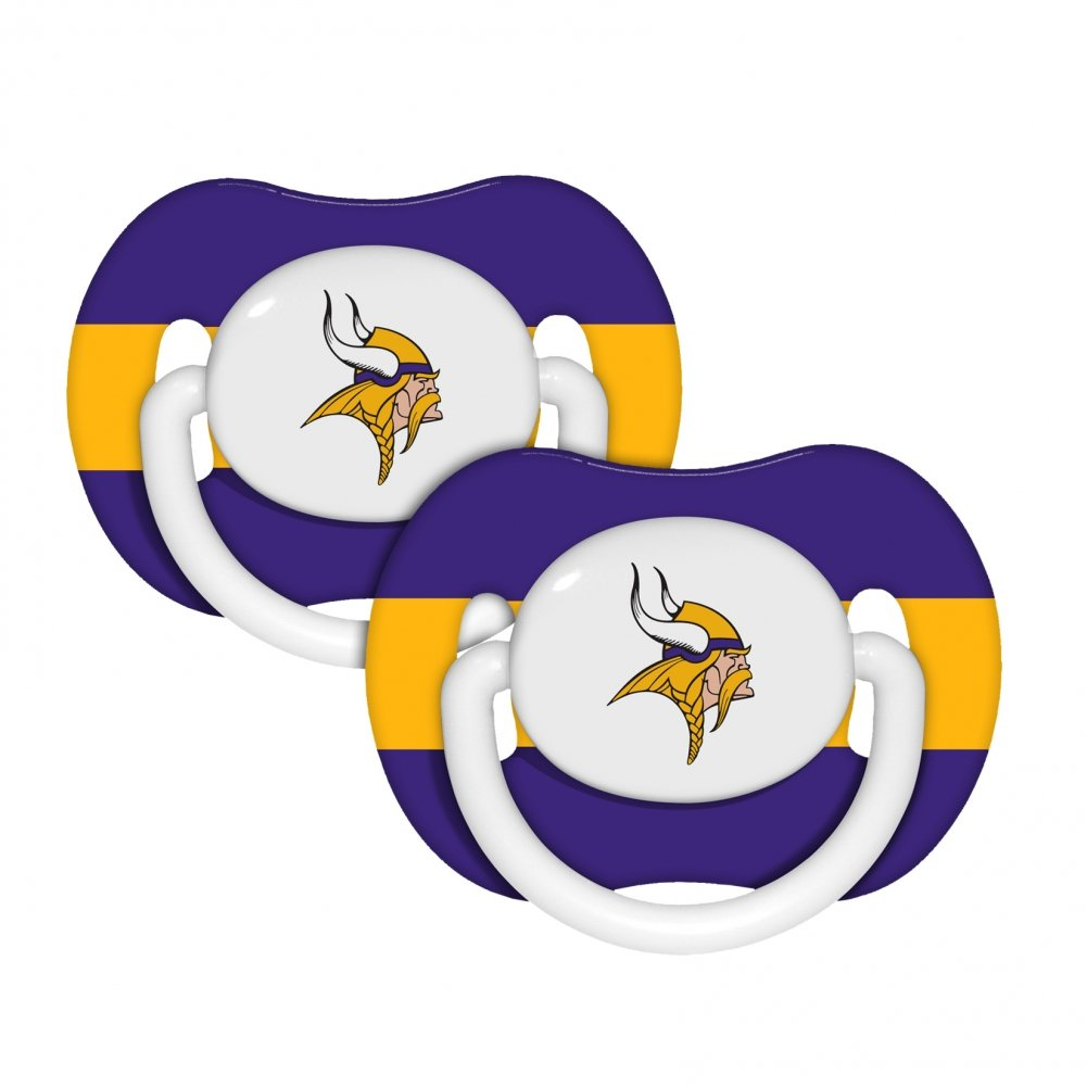 Amazon.com: NFL Minnesota Vikings 2 Paquete Chupete: Sports ...