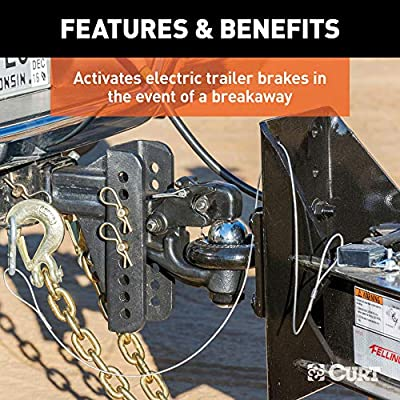 CURT 52028 Soft-Trac 2 Trailer Breakaway Switch Kit System with Battery and Charger: Automotive