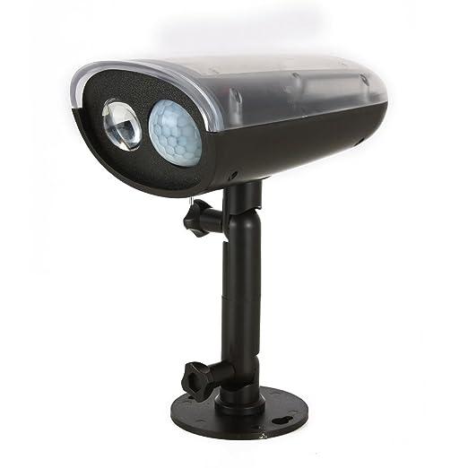 DealMux sensor de movimiento solar Proyector de cubierta impermeable Wireless Solar Powered LED ultra brillante de la antorcha de la lámpara de pared del ...