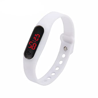 Amazon.com: AFfeco Sports Bracelet Watch Casual Date Sports Bracelet Digital Watch Unisex (Green): Cell Phones & Accessories
