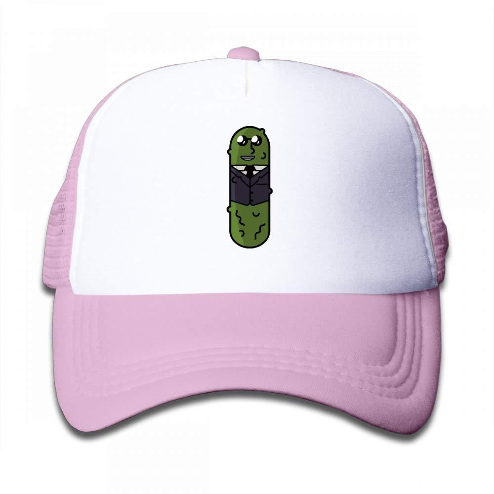 NO4LRM Kid's Boys Girls Gentleman Pickles Youth Mesh Baseball Cap Summer Adjustable Trucker Hat