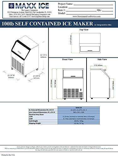 Maxx Ice Mim100x Energy Star Commercial 100 Pound Self