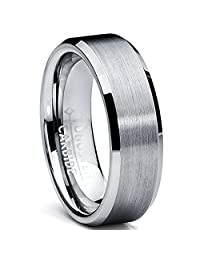 6MM High Polish/Matte Finish Tungsten Ring, Bands Sizes 5 to 13