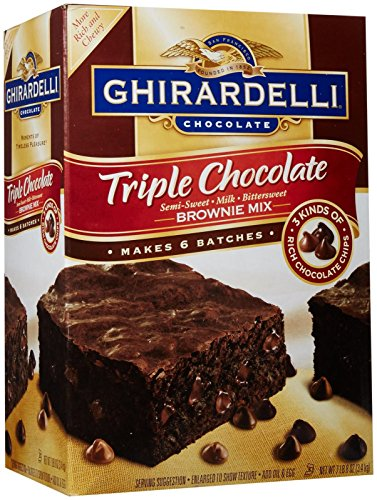 Ghirardelli Triple Chocolate Brownie Mix- 7.5 lb - Chocolate Brownies Triple