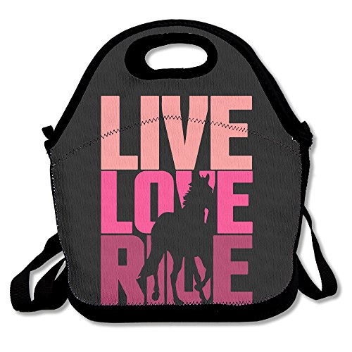 (ScutLunb Lunch Bag Live Love Ride Horse Lunch Tote Lunch Box For Women Men Kids With Adjustable Strap)