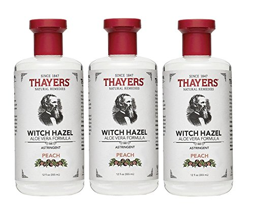 Thayers  Astringent, Peach, Witch Hazel , 12-Ounces (Pack of 3)
