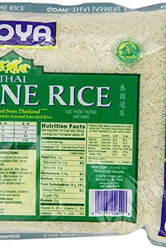 Amazon Com Goya Thai Jasmine Rice 100 Jasmine White Rice 80 Oz Pack Of 3 Grocery Gourmet Food