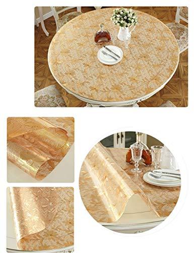 Ronde-80cm  1 CWJ Nappe-Table Table Nappe , Nappes Rondes Nappe Souple en Verre Souple étanche en Plastique Huile-Preuve Tapis De Table en PVC Plaque De Cristal PVC Nappe De Maison Moderne Moderne