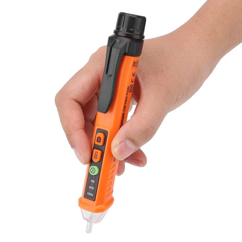 Probador de voltaje de CA sin contacto Tipo de l/ápiz Detector de temperatura el/éctrico de voltaje de CA con sensibilidad ajustable