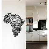 Wall Decals Leopard Print Wild Cat Wildcat Map of Africa Animals Panther Tiger Wall Vinyl Decal Stickers Bedroom Murals