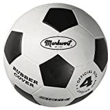 Markwort Junior Size-4 Soccer Balls, White/Black