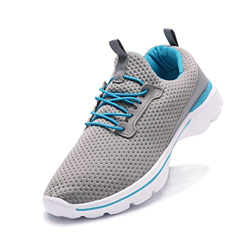 XINBEIGE Womens Walking Tennis Shoes Sport Yoga Jogging Running Shoes Lightweight Breathable Sneakers Grey ExWBc