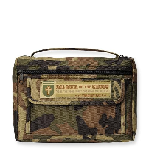 Enesco Bible/Book Cover 2 Pocket Camo Soldier Of The Cross (Soldiers Cover)