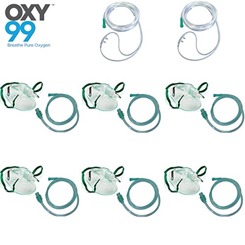 OXY99 Pack of 6 Oxygen Nebulizer face mask with 2 Cannula mask Price & Reviews