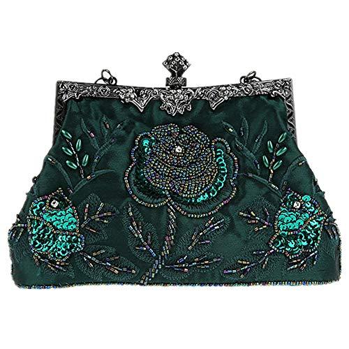 MMYOMI Women Vintage Floral Beaded Rhinestone...
