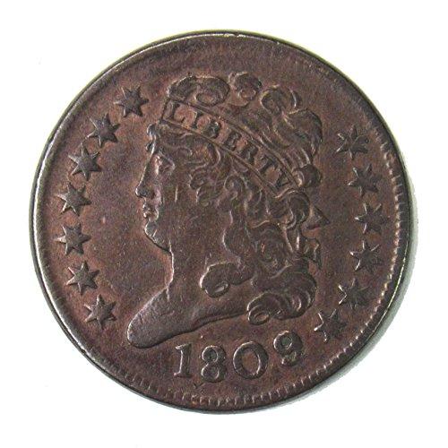 1809 Classic Head Half Cent 1/2¢ VF