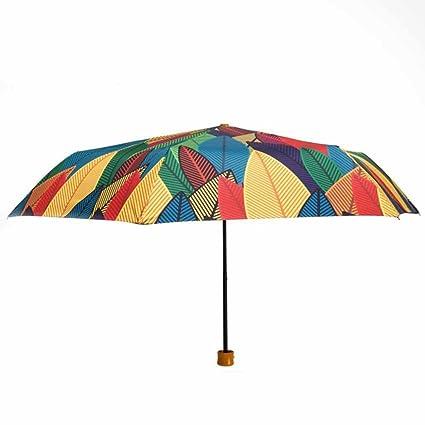 BiuTeFang Paraguas Paraguas sombrillas protección UV paraguas plegable ultraligeros sombrillas de alta calidad 98x55cm