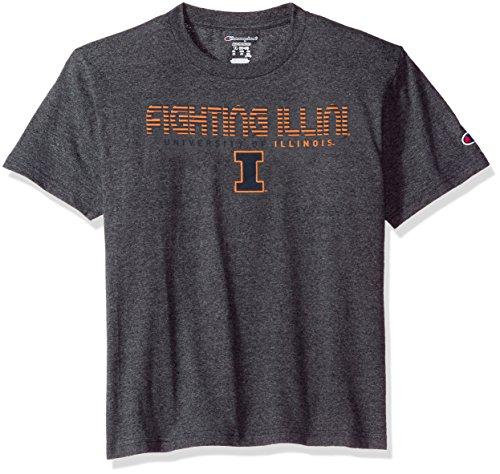 (NCAA Illinois Illini Youth Boys Boy's Jersey T-Shirt 2, X-Large, Charcoal)