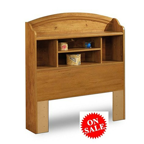 Twin Bookcase Headboard Wood Country Pine Finish Country Style with Shelf and Storage Space Wooden Kids and Teens Furniture & eBook by Easy&FunDeals