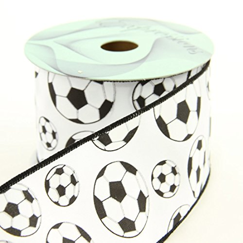 Craig Bachman Imports Wired Soccer Ribbon, 2.5