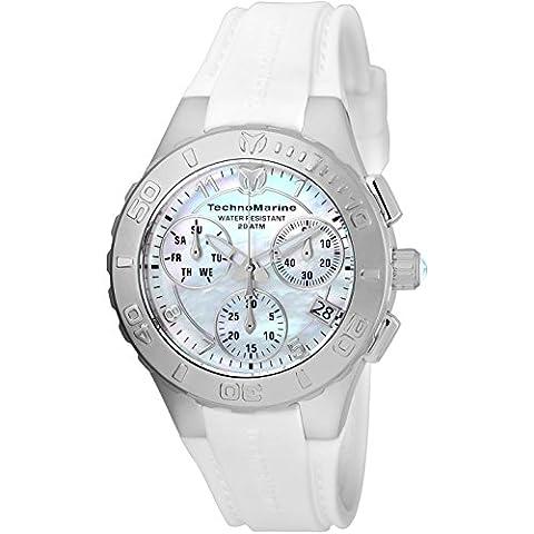 TechnoMarine Cruise Medusa Chronograph White Dial Ladies Watch 115083 - Chronograph White Dial