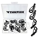 30pcs in Box Black Nikel Saltwater Sea Heavy Duty Boat Fishing Rod Guides Top TIPS