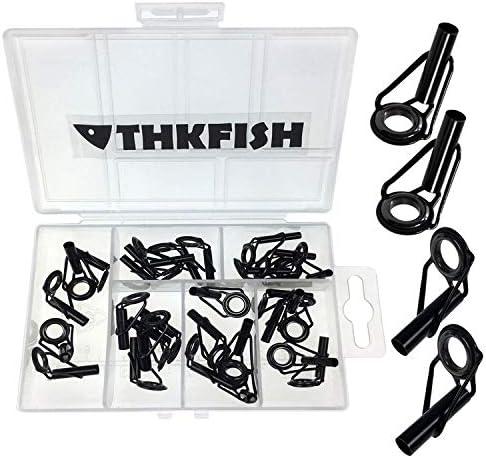 18pcs set Canna da pesca Guida Tip Pole Eye Ring Rod Kit di riparazione