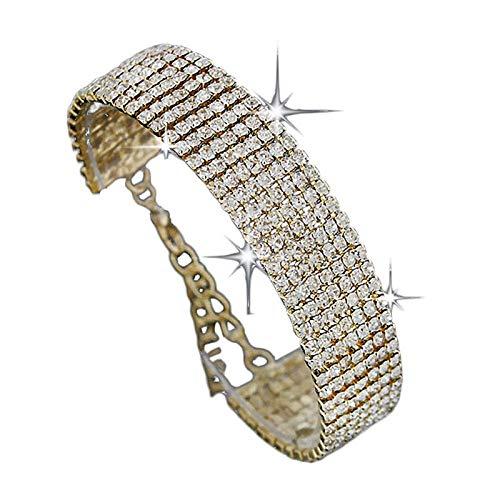 Leedford Fine Thick Bracelet Jewelry Sterling Silver Cubic Zirconia Diamond Tennis Bracelet Crystal Adjustable Bangle Bracelets