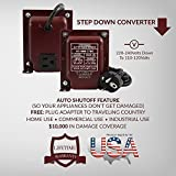 ACUPWR AD-1000 1000-Watt 220-240 Volts to 110-120 Volts Step Down Voltage Transformer/ Converter Ideal for LED TVs, xBox, 360, Playstation, KitchenAid mixer, small heaters, Black & Decker 2-slice toaters, microwave ovens, Cuisinart, DeLonghi Coffee Maker, humidifiers
