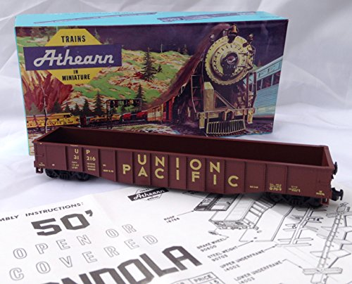 Vintage 1971 Athearn No. 1644 HO Scale Union Pacific Railroad 50' Gondola Train Car (7