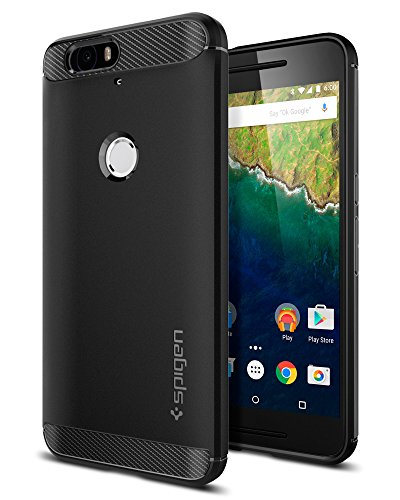 Nexus 6P Case, Spigen [Rugged Armor] Resilient [Black] Rugged Armor Ultimate protection and rugged design with matte finish for Nexus 6P (2015) - Black (SGP11797) (Nexus 6p Unicorn Beetle Hybrid Protective Case)