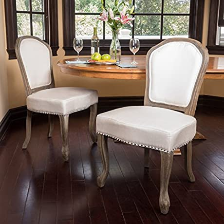 Gondor Classic D Cor Fabric Dining Chair Set Of 2 Beige