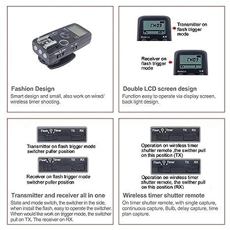 Remote Shutter Release Wired/Wireless Timer Transmitter