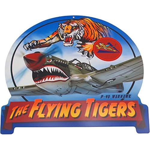 Flying Tiger Stunt Aircraft P-40 Warhawk Vintage Metal Sign 16X15 Steel Not (Aircraft Sign)