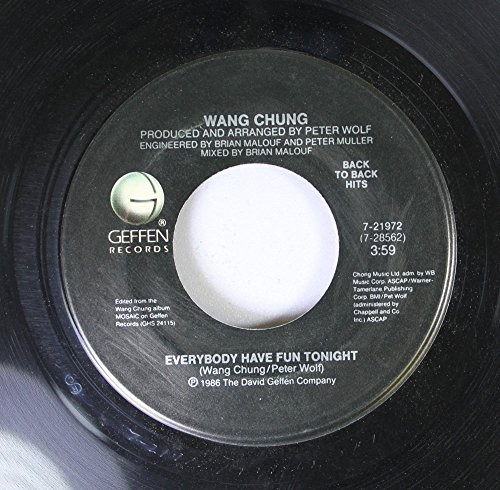 WANG CHUNG 45 RPM Everybody Have Fun Tonight / To Live And Die In L.A.