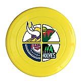 LnEir Outdoor Game Frisbee Minnesota Sports Football Logo Mixed Flyer Frisbee Yellow