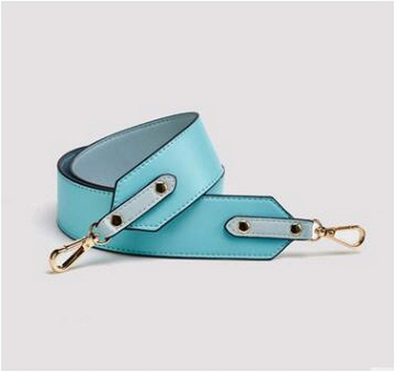 16 accesorios de color para bolsas, correa de hombro ancha, repuesto de bolso de cuero Azul (Lake Blue)