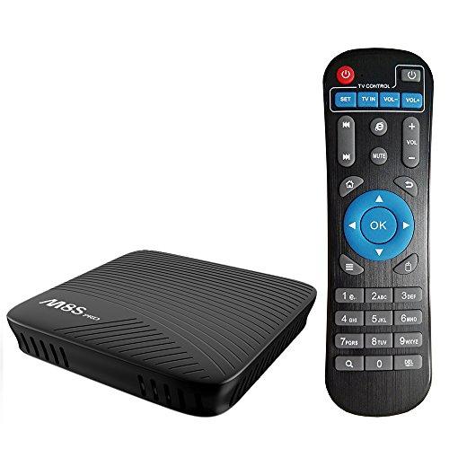 Walmeck Android TV Box,M8S PRO Smart,Android 7.1 Amlogic S912 Octa-core 64 Bit 3GB DDR4 32GB EMMC HDR10 VP9 H.265 UHD 4K Mini PC 2.4G & 5G WiFi LAN Airplay Miracast BT 4.1 HD Media Player US Plug by Walmeck
