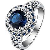 925 Silver Ring Tanzanite Mysterious Rainbow Topaz Women Men Wedding Size 6-10 (10)