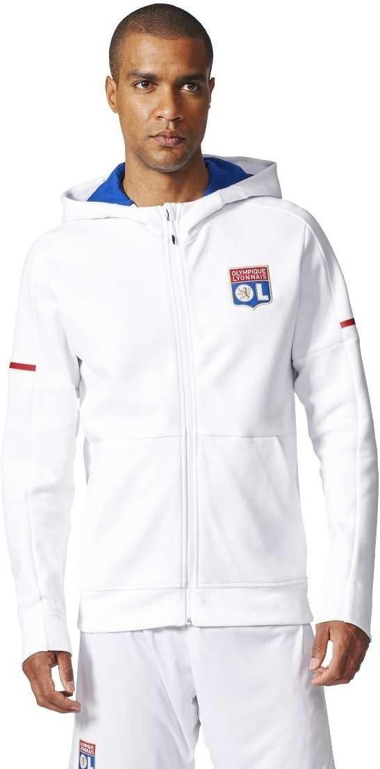 adidas Veste pour Homme OL Anthem Sqd de Lyon Olympique