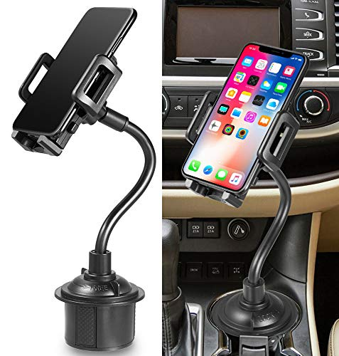 Car Phone Mount, Nakedcellphone Cup Holder Adjustable/Universal Apple iPhone Xs XS Max XR X 8 8+ 7 Plus 6s 6 5s SE, Samsung S9 S9+ Note 8 Galaxy S8, LG, Nexus, Google Pixel 3, Motorola Moto Z3, etc from Nakedcellphone