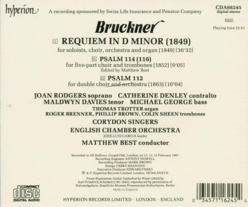 Bruckner: Requiem; Psalms 112 and 114