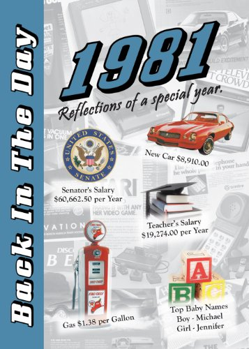 1981 Back In The Day Almanac -- 24-page Booklet / Greeting Card
