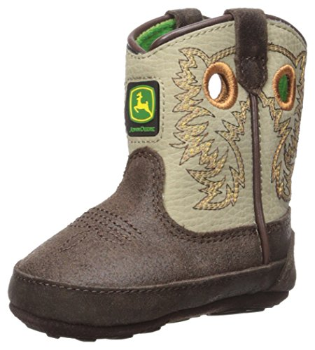 John Deere Baby Jd0417 Western Boot, Brown, 0 Medium US Infant
