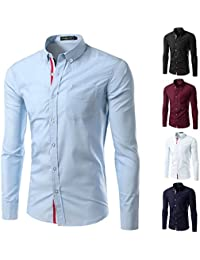 KEBINAI HOT SALE Solid Color Men Shirt mens shirts Casual Camisa Masculina Long Sleeve Shirts Slim